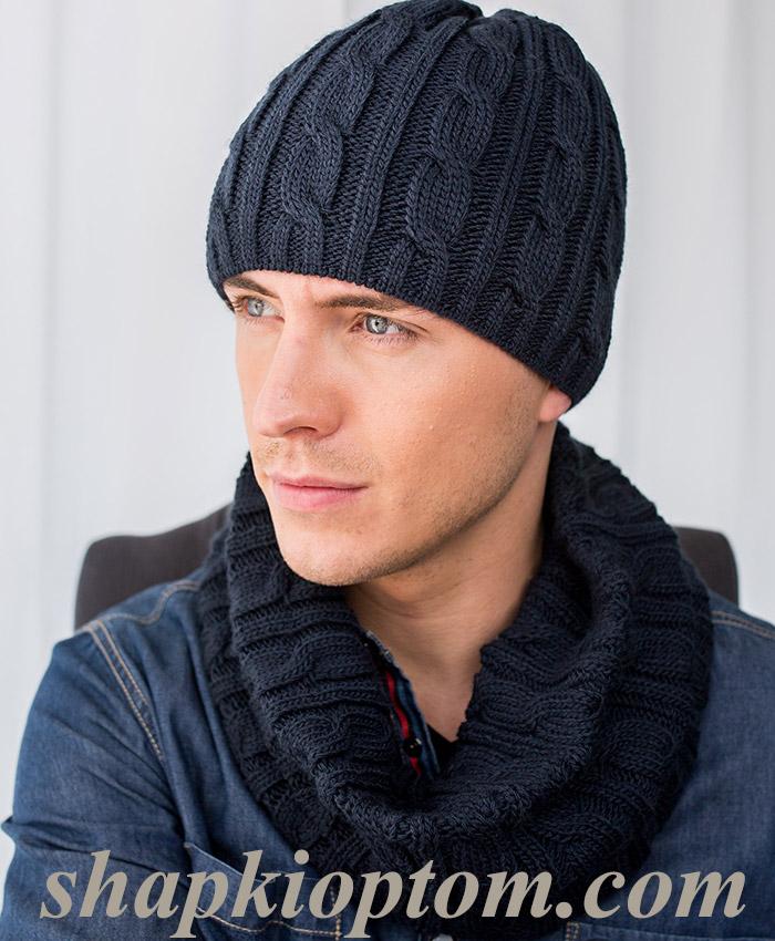 мужские шапки фото вязаные